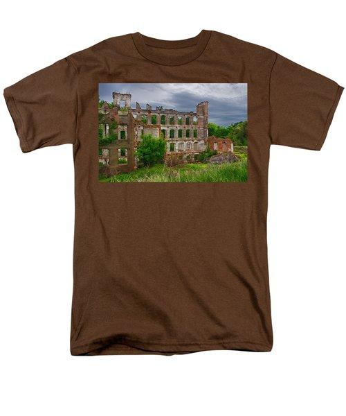Great Falls Mill Ruins Men's T-Shirt  (Regular Fit) by Priscilla Burgers