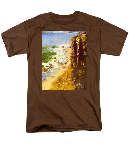 Men's T-Shirt  (Regular Fit) featuring the painting Great Ocean Road by Pamela  Meredith