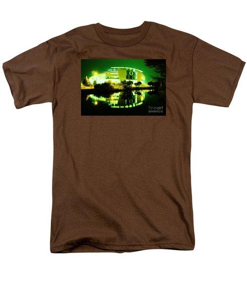 Green Power- Autzen At Night Men's T-Shirt  (Regular Fit) by Michael Cross