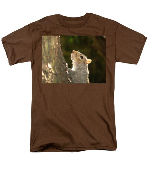 Grey Squirrel Men's T-Shirt  (Regular Fit) by Ron Harpham
