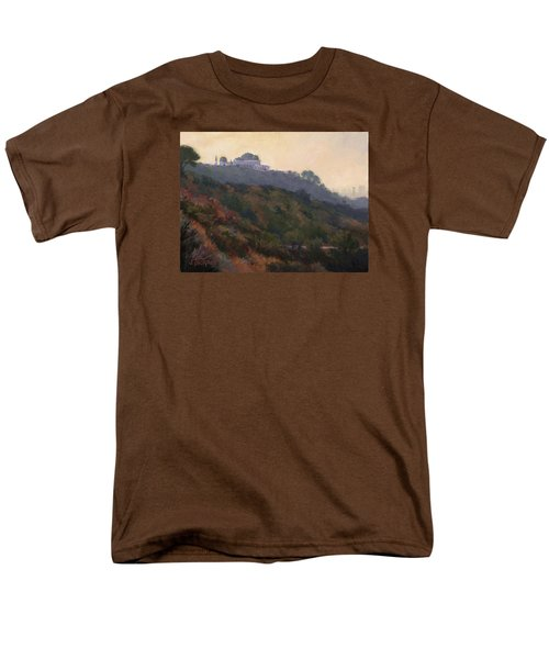 Griffith Park Observatory- Late Morning Men's T-Shirt  (Regular Fit) by Jane Thorpe