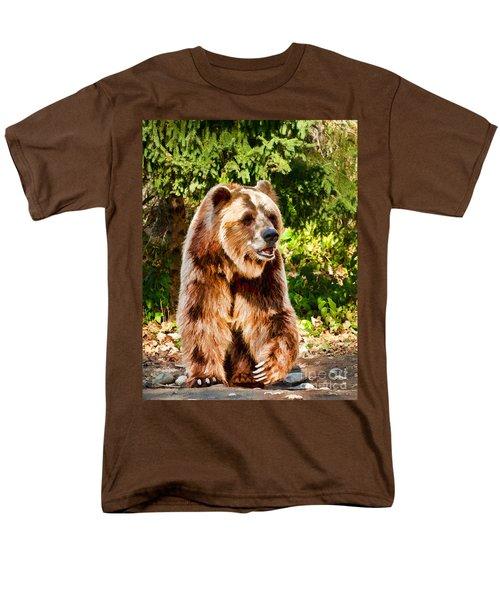 Grizzly Bear - Painterly Men's T-Shirt  (Regular Fit) by Les Palenik