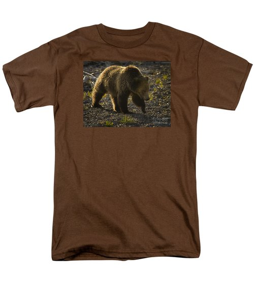 Grizzly Bear-signed-#4435 Men's T-Shirt  (Regular Fit) by J L Woody Wooden
