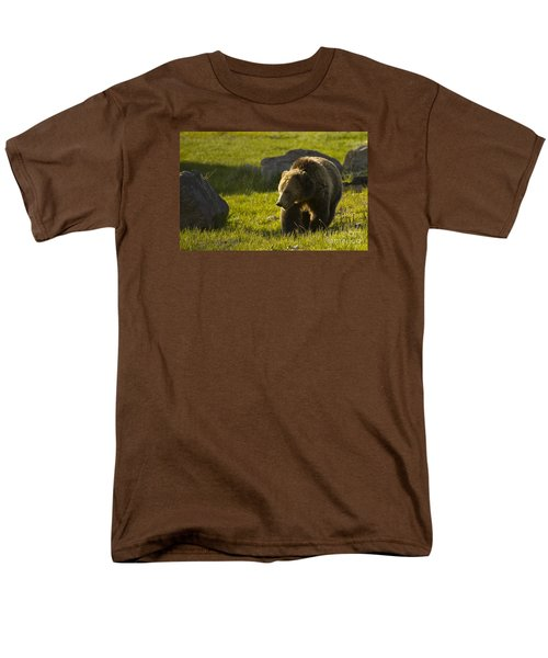 Grizzly Bear-signed-#4545 Men's T-Shirt  (Regular Fit) by J L Woody Wooden