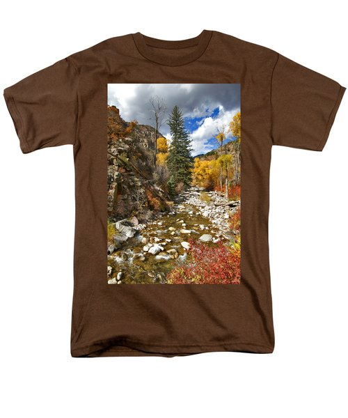 Men's T-Shirt  (Regular Fit) featuring the photograph Grizzly Creek Cottonwoods Vertical by Jeremy Rhoades