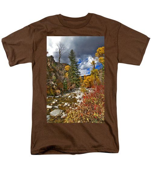 Men's T-Shirt  (Regular Fit) featuring the photograph Grizzly Creek Vertical by Jeremy Rhoades