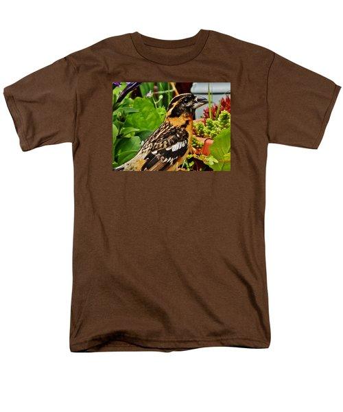 Men's T-Shirt  (Regular Fit) featuring the photograph Grosbeak Profile by VLee Watson