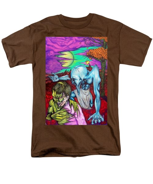 Men's T-Shirt  (Regular Fit) featuring the drawing Growing Evils by Michael  TMAD Finney