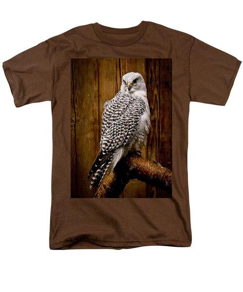 Gyrfalcon Perched Men's T-Shirt  (Regular Fit) by Steve McKinzie
