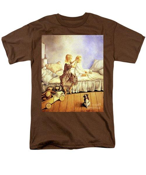 Hands Of Devotion - Childhood Men's T-Shirt  (Regular Fit) by Linda Simon