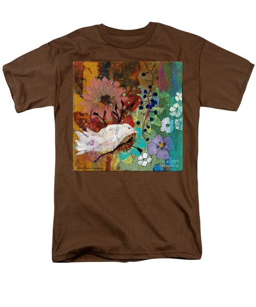 Men's T-Shirt  (Regular Fit) featuring the painting Happiness by Robin Maria Pedrero
