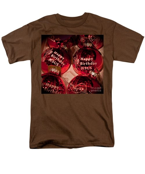 Happy Birthday Jesus Men's T-Shirt  (Regular Fit) by Joann Copeland-Paul