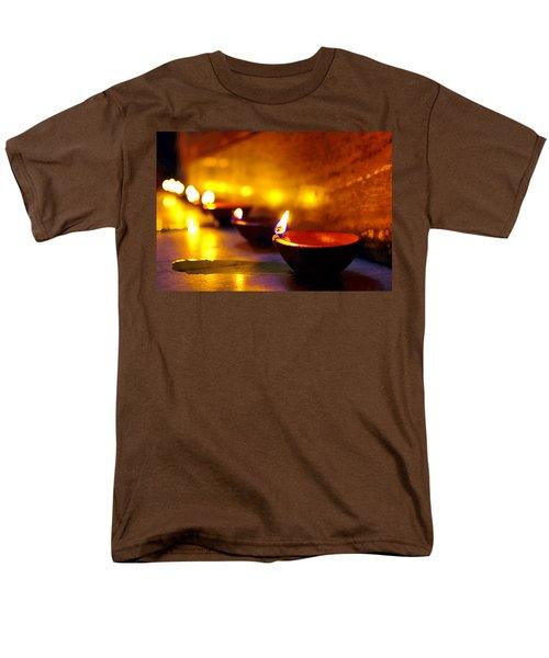Happy Diwali Men's T-Shirt  (Regular Fit) by Prakash Ghai