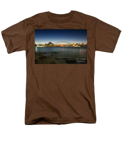 Harbour Night Men's T-Shirt  (Regular Fit) by Andrew Paranavitana