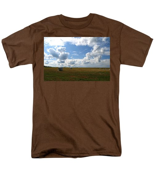 Men's T-Shirt  (Regular Fit) featuring the photograph Harvest Blue  by Neal Eslinger