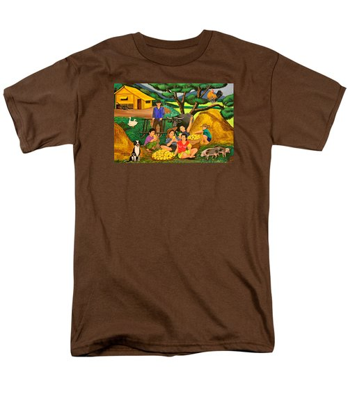 Men's T-Shirt  (Regular Fit) featuring the painting Harvest Time by Lorna Maza