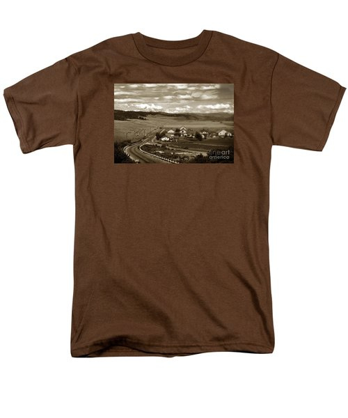 Hatton Ranch Carmel Valley From Highway One California  1940 Men's T-Shirt  (Regular Fit) by California Views Mr Pat Hathaway Archives