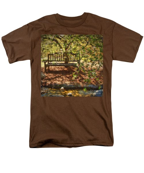 Men's T-Shirt  (Regular Fit) featuring the photograph Have A Seat by Peggy Hughes