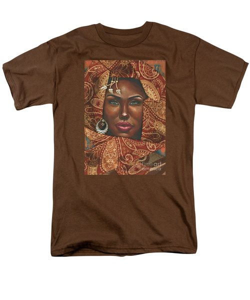 Men's T-Shirt  (Regular Fit) featuring the painting Hazel Eyes by Alga Washington