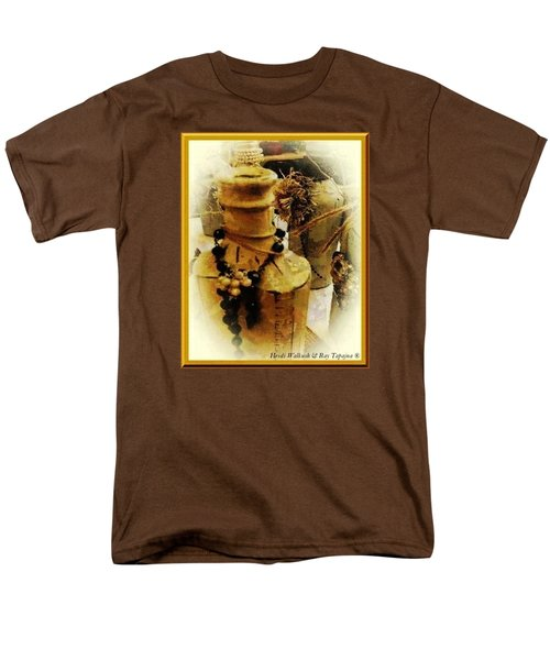 Men's T-Shirt  (Regular Fit) featuring the mixed media He Turned Water Into Wine by Ray Tapajna