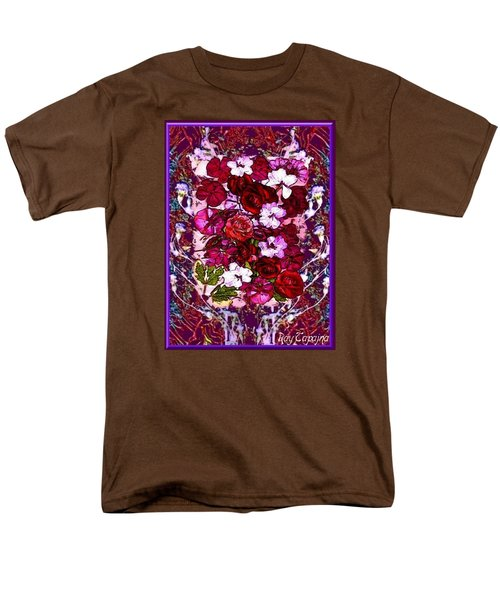 Men's T-Shirt  (Regular Fit) featuring the mixed media Healing Flowers For You by Ray Tapajna
