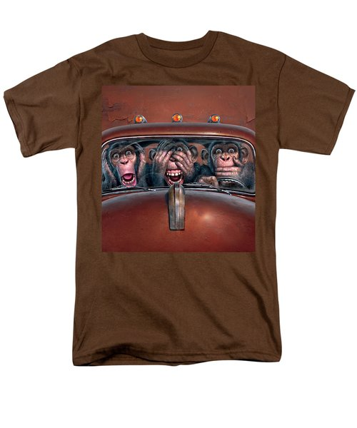 Hear No Evil See No Evil Speak No Evil Men's T-Shirt  (Regular Fit) by Mark Fredrickson