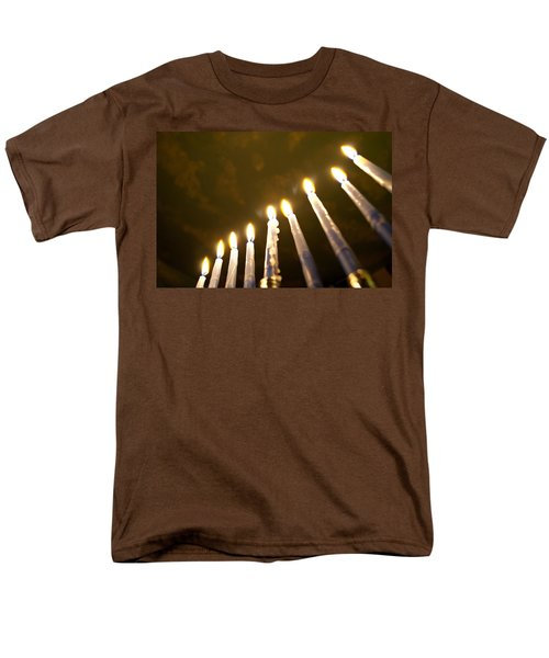 Heavenly Lights Men's T-Shirt  (Regular Fit) by Tikvah's Hope