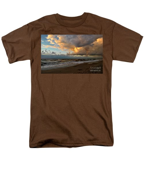 Men's T-Shirt  (Regular Fit) featuring the photograph Heavy Clouds Over Baltic Sea by Maja Sokolowska