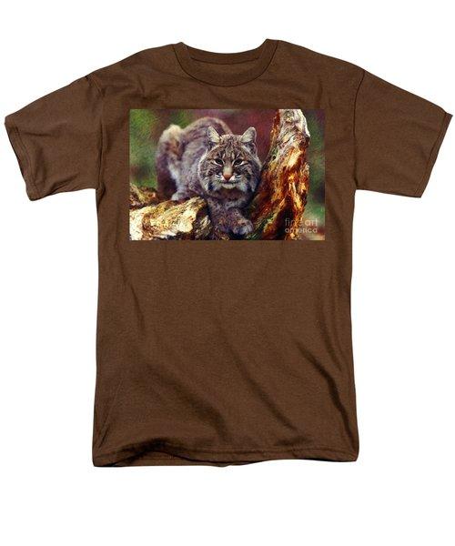 Men's T-Shirt  (Regular Fit) featuring the digital art Here Kitty Kitty by Lianne Schneider
