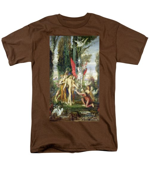 Hesiod And The Muses Men's T-Shirt  (Regular Fit) by Gustave Moreau