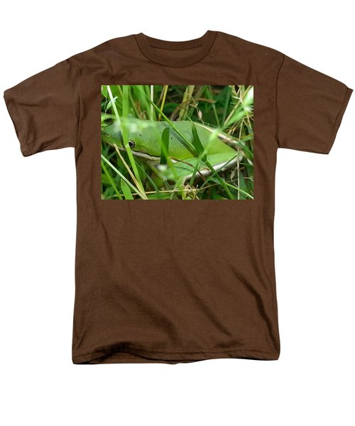 Hidden Frog Men's T-Shirt  (Regular Fit) by Fortunate Findings Shirley Dickerson