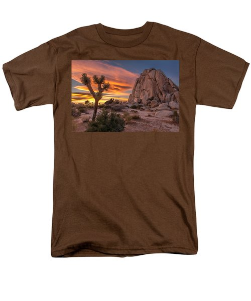 Hidden Valley Rock - Joshua Tree Men's T-Shirt  (Regular Fit) by Peter Tellone
