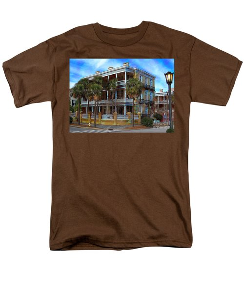 Men's T-Shirt  (Regular Fit) featuring the photograph Historic Charleston Mansion by Kathy Baccari