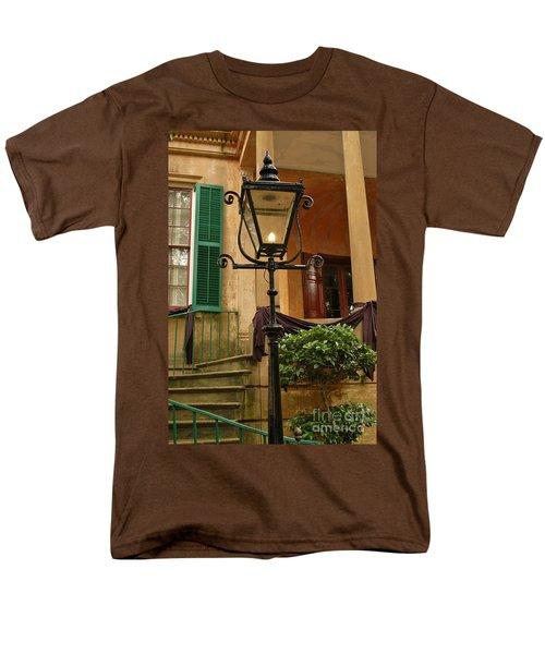 Men's T-Shirt  (Regular Fit) featuring the photograph Historical Gas Light by Patrick Shupert