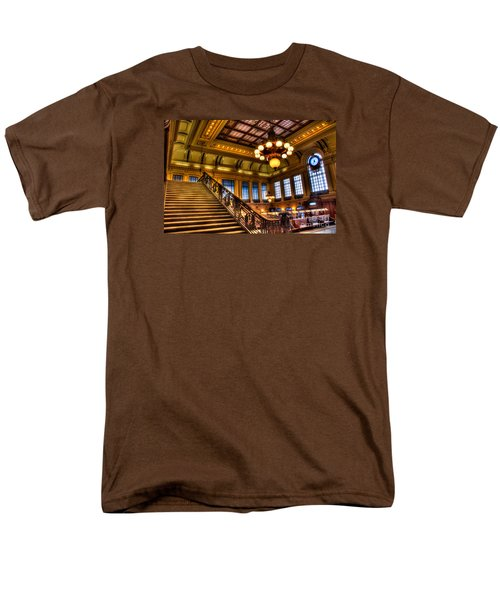 Hoboken Terminal Men's T-Shirt  (Regular Fit) by Anthony Sacco