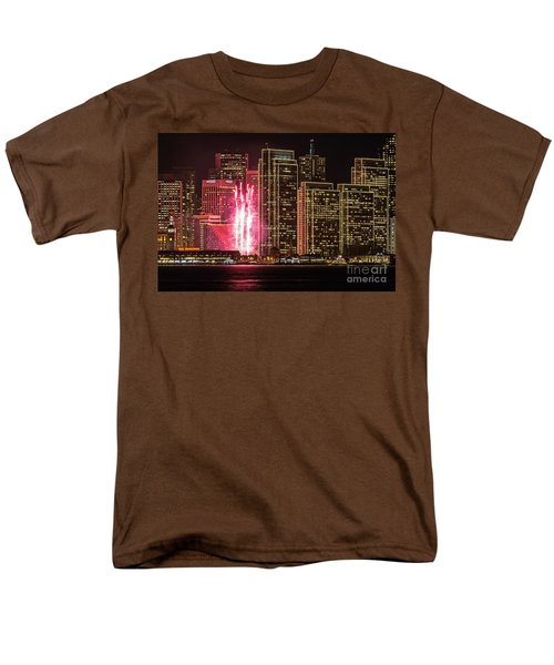 Holiday Lights Men's T-Shirt  (Regular Fit) by Kate Brown