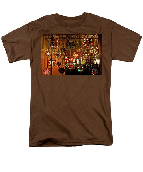 Holiday Lights Men's T-Shirt  (Regular Fit) by Suzanne Stout