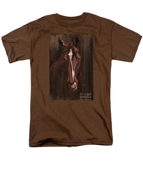Horse Apple Warm Brown Men's T-Shirt  (Regular Fit) by Go Van Kampen