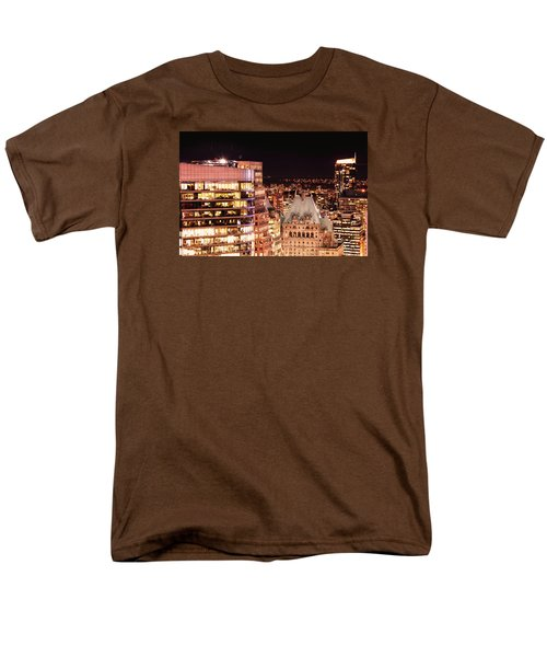 Men's T-Shirt  (Regular Fit) featuring the photograph Hotel Vancouver And Wall Center Mdccv by Amyn Nasser