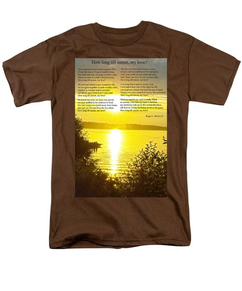 Men's T-Shirt  (Regular Fit) featuring the photograph How Long Till Sunset by Tikvah's Hope