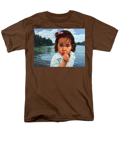 Men's T-Shirt  (Regular Fit) featuring the painting Human-nature 48 by James W Johnson