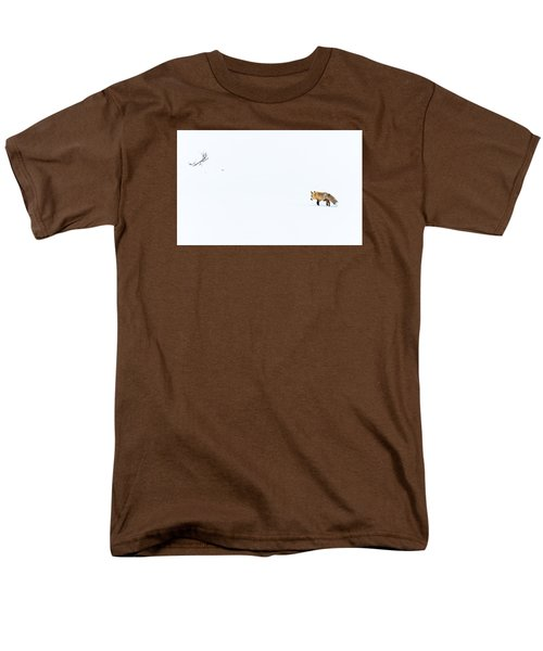 Men's T-Shirt  (Regular Fit) featuring the photograph Hunting In White by Yeates Photography