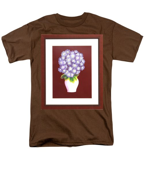 Men's T-Shirt  (Regular Fit) featuring the painting Hydrangea by Ron Davidson