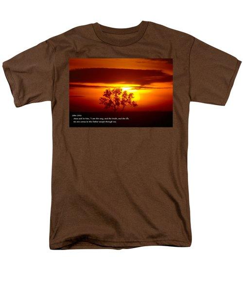 I Am The Way John 14-6 Men's T-Shirt  (Regular Fit) by Jeff Swan