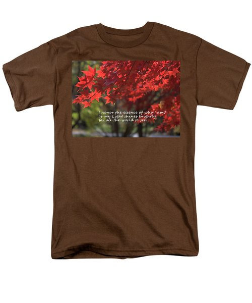 Men's T-Shirt  (Regular Fit) featuring the photograph I Honor The Essence Of Who I Am by Patrice Zinck