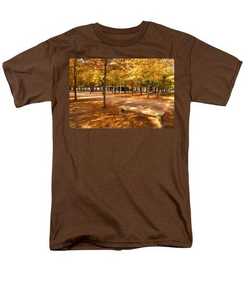 Impressions Of Paris - Tuileries Garden - Come Sit A Spell Men's T-Shirt  (Regular Fit) by Georgia Mizuleva