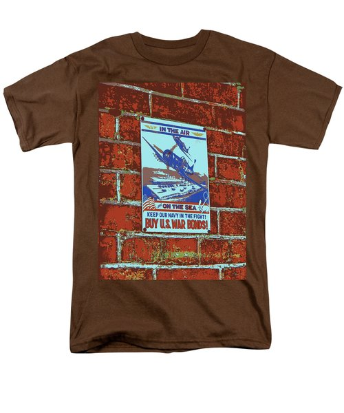 In The Air And On The Sea Poster Men's T-Shirt  (Regular Fit)