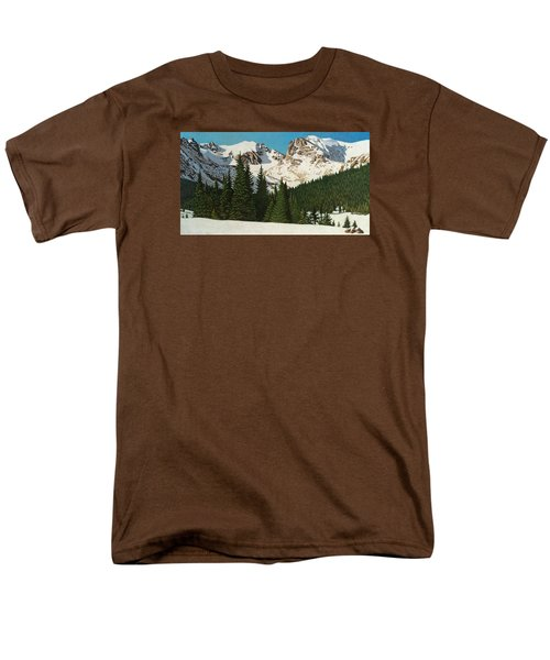 Indian Peaks Winter Men's T-Shirt  (Regular Fit) by Dan Miller