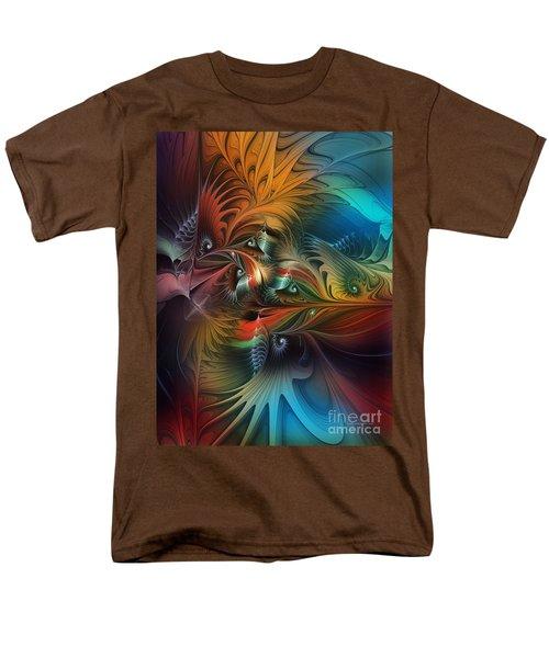 Intricate Life Paths-abstract Art Men's T-Shirt  (Regular Fit) by Karin Kuhlmann