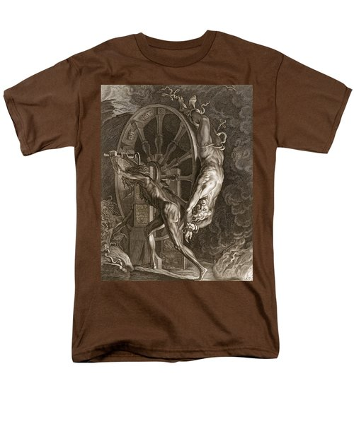 Ixion In Tartarus On The Wheel, 1731 Men's T-Shirt  (Regular Fit) by Bernard Picart